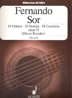 24 Exercices op. 35 - Volume 1 SOR Partition Guitare - laflutedepan