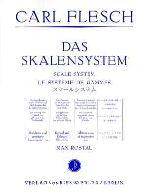 Le Système de Gammes - Violon Carl Flesch Partition laflutedepan