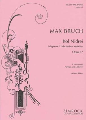 Kol Nidrei Op. 47 BRUCH Partition Violoncelle - laflutedepan