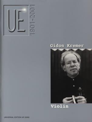 UE 1901-2001 Gidon (éd.) Kremer Partition Violon - laflutedepan
