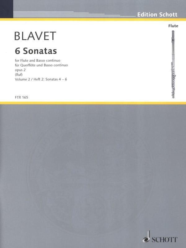 6 Sonates Opus 2 - Volume 2 - Michel Blavet - laflutedepan.com