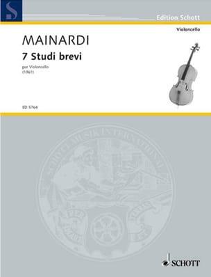 7 studi brevi Enrico Mainardi Partition Violoncelle - laflutedepan