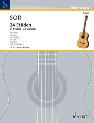 24 Exercices op. 35 - Volume 2 SOR Partition Guitare - laflutedepan