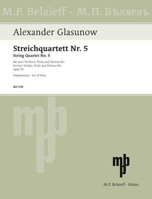 Streichquartett Nr. 5 op. 70 -Stimmen laflutedepan