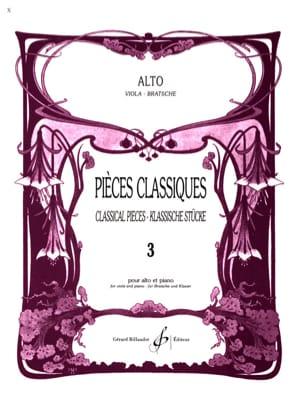 Pièces Classiques Volume 3 - Alto Frédéric Lainé laflutedepan