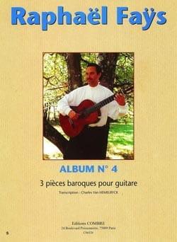 Album N°4 - 3 Pièces Baroques - Raphaël Faÿs - laflutedepan.com
