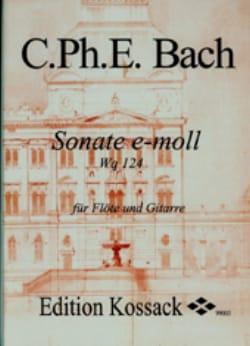 Sonate En Mi Min. Wq 124 Carl Philipp Emanuel Bach laflutedepan
