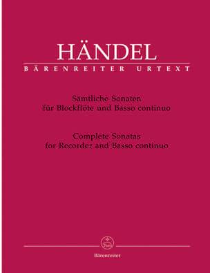 Complete Sonatas for Recorder and BC HAENDEL Partition laflutedepan