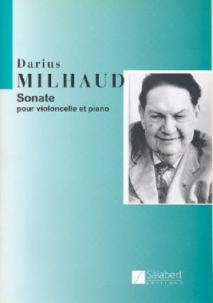 Sonate -Cello - MILHAUD - Partition - Violoncelle - laflutedepan.com