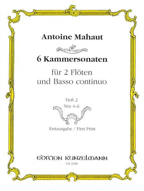 6 Kammersonaten - Heft 2 : Nr. 4-6 - 2 Flöten u. BC - laflutedepan.com
