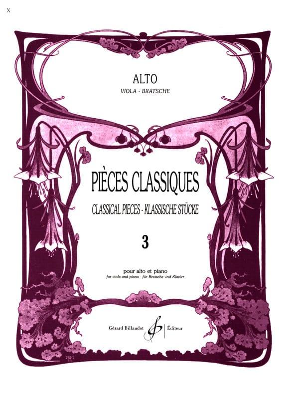 Pièces Classiques Volume 3 - Alto - Frédéric Lainé - laflutedepan.com