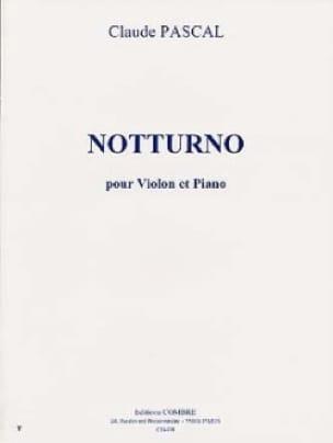 Notturno - Claude Pascal - Partition - Violon - laflutedepan.com