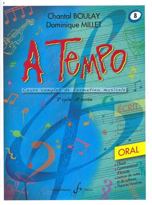 A Tempo Volume 8 - Oral - BOULAY - MILLET - laflutedepan.com