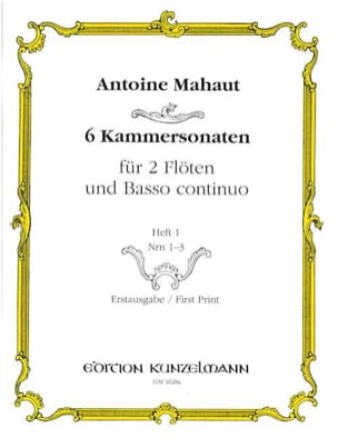 6 Kammersonaten - Heft 1 : Nr. 1-3 -2 Flöten Bc laflutedepan