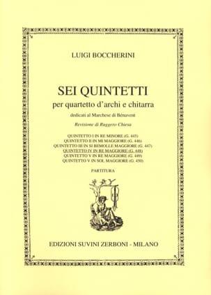 Quintetto n° 4 in re maggiore G. 448 BOCCHERINI laflutedepan