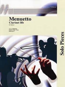 Menuetto Maurice Faillenot Partition Clarinette - laflutedepan