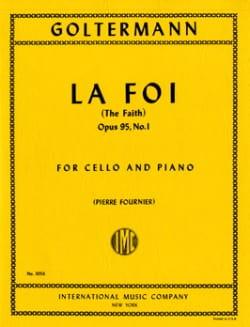 La Foi op. 95 n° 1 Georg Goltermann Partition laflutedepan
