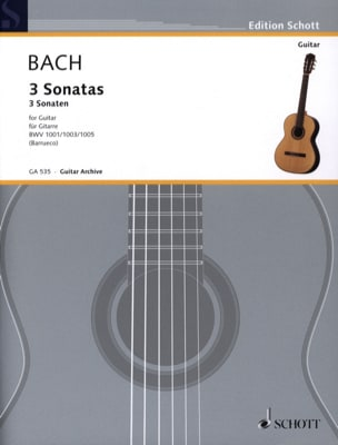 3 Sonaten - Gitarre BACH Partition Guitare - laflutedepan