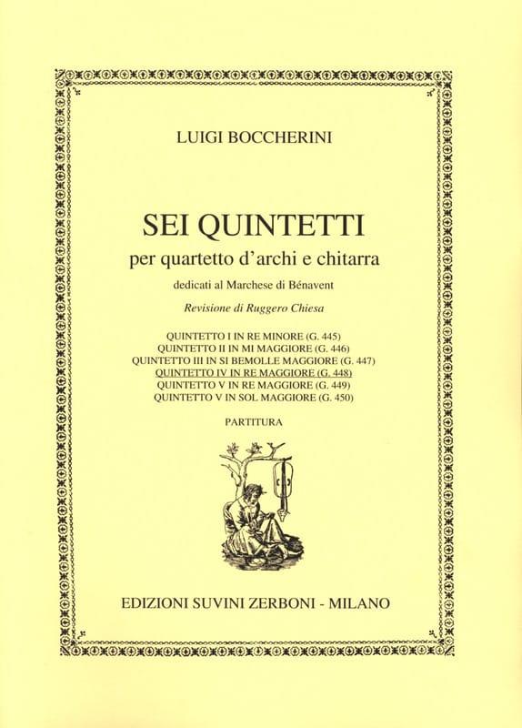 Quintetto n° 4 in re maggiore G. 448 - BOCCHERINI - laflutedepan.com