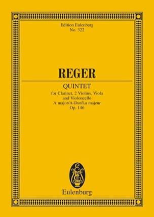 Quintett A-Dur, Op. 146 Max Reger Partition laflutedepan