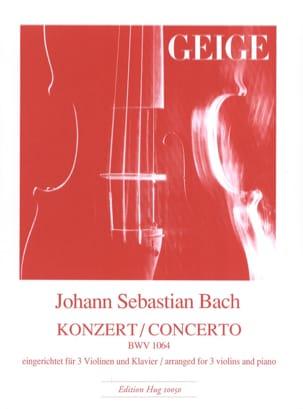 Concerto BWV 1064 - 3 Violons et Piano BACH Partition laflutedepan