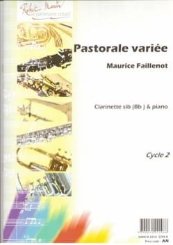 Pastorale variée Maurice Faillenot Partition Clarinette - laflutedepan