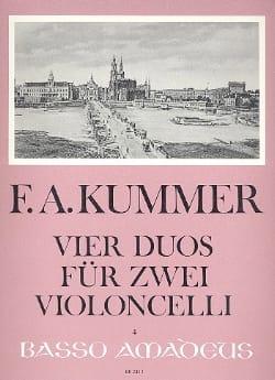 4 Duos für 2 Violoncelli Friedrich-August Kummer laflutedepan