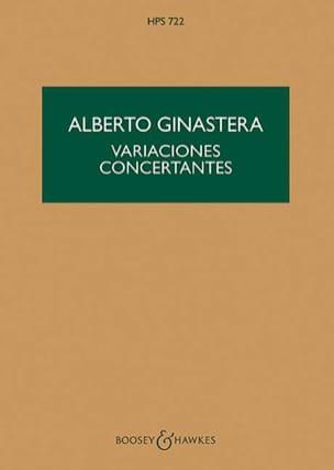 Variaciones concertantes - Score GINASTERA Partition laflutedepan