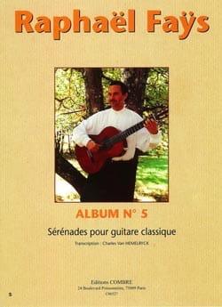 Album N°5 - Sérénades Raphaël Faÿs Partition Guitare - laflutedepan