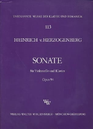 Sonate op. 94 - Heinrich von Herzogenberg - laflutedepan.com