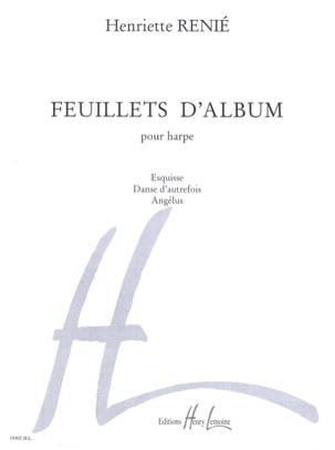 Feuillets d'album Henriette Renié Partition Harpe - laflutedepan