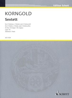 Sextett D-dur op.10 - Stimmen KORNGOLD Partition laflutedepan
