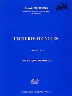 Lecture de notes - Volume 2 Robert Soubeyran Partition laflutedepan