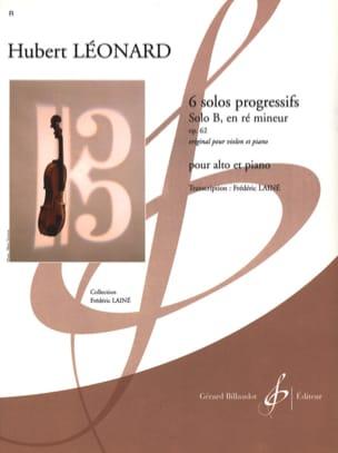 Solo B en ré mineur op. 62 Hubert Léonard Partition laflutedepan