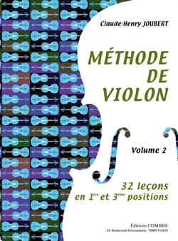Méthode de Violon Volume 2 Claude-Henry Joubert Partition laflutedepan