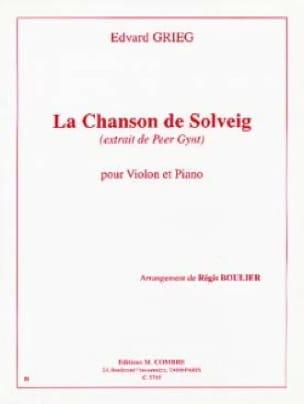 Chanson de Solveig - Violon - GRIEG - Partition - laflutedepan.com