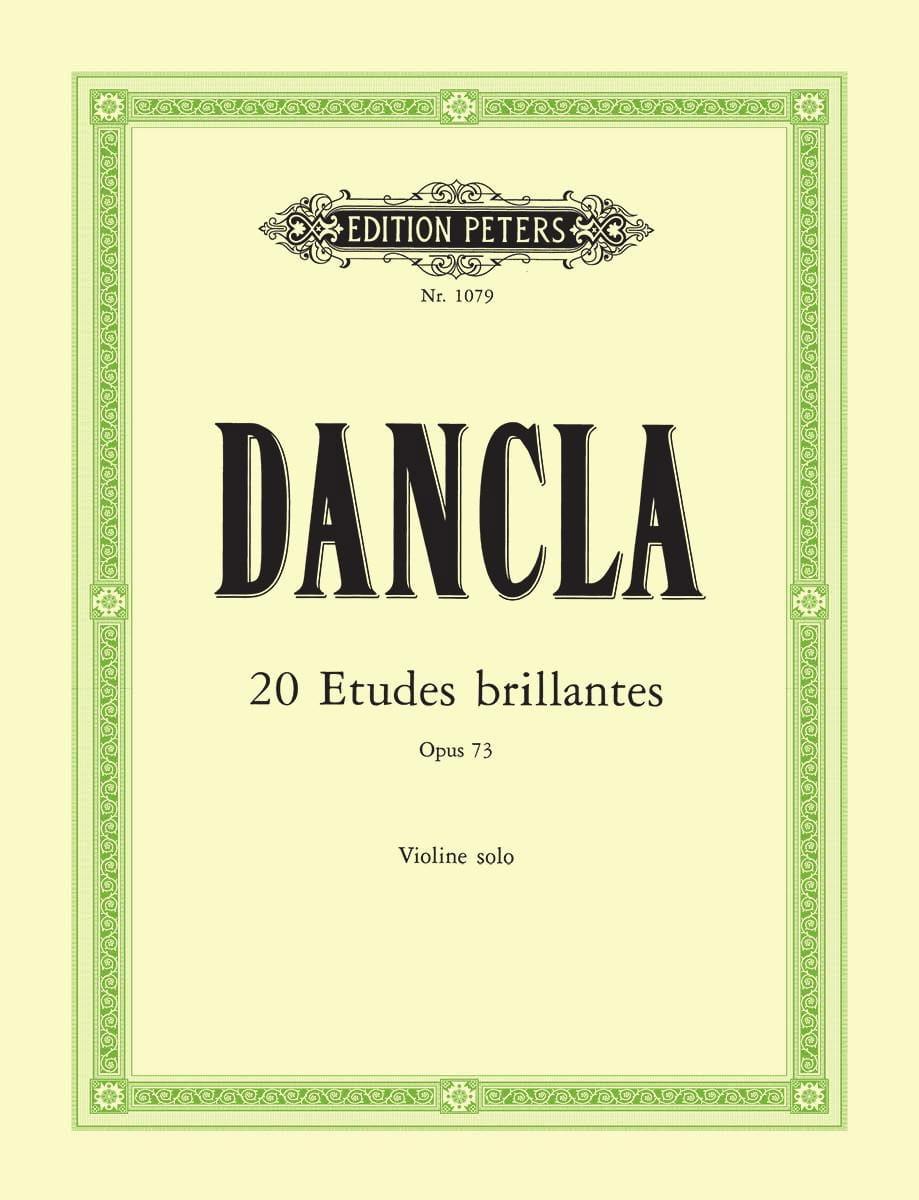 20 Etudes brillantes op. 73 - DANCLA - Partition - laflutedepan.com