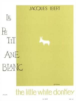 Le petit âne blanc - Flûte IBERT Partition laflutedepan