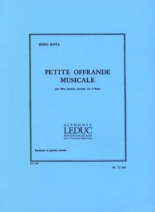 Petite offrande musicale -Partition + parties ROTA laflutedepan