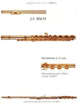 Inventions à 2 voix - 2 Flûtes BACH Partition laflutedepan