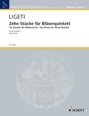 10 Pièces pour Quintette à Vent - Conducteur LIGETI laflutedepan