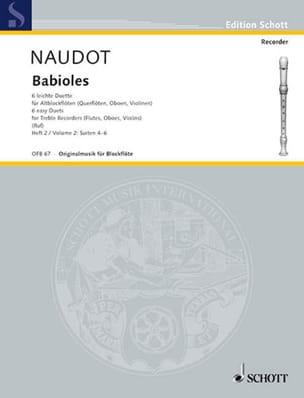 Babioles Bd. 2 - 2 Altblockflöten Monsieur Naudot laflutedepan