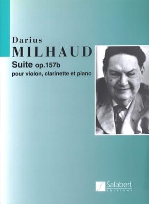 Suite op. 157b - violon, clarinette et piano MILHAUD laflutedepan