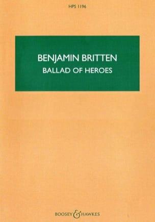 Ballad of Heroes Op. 14 - BRITTEN - Partition - laflutedepan.com