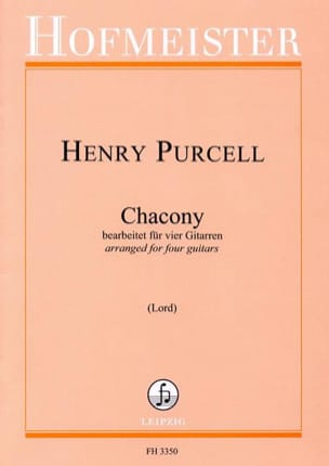 Chaconne PURCELL Partition Guitare - laflutedepan
