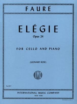 Elégie, opus 24 FAURÉ Partition Violoncelle - laflutedepan