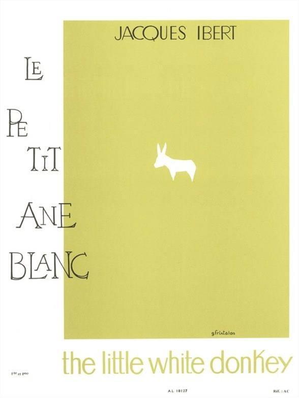 Le petit âne blanc - Flûte - IBERT - Partition - laflutedepan.com