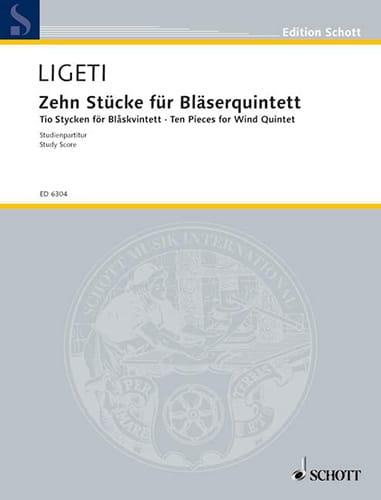 10 Pièces pour Quintette à Vent - Conducteur - laflutedepan.com