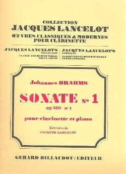 BRAHMS - Sonata n ° 1 opus 120/1 - Piano clarinet - Partition - di-arezzo.com