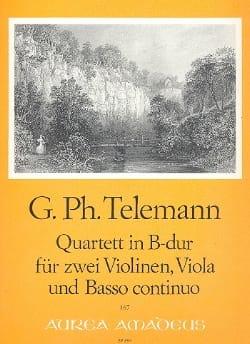 Quartett in B Dur -Stimmen - TELEMANN - Partition - laflutedepan.com